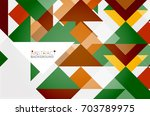 triangle pattern design... | Shutterstock . vector #703789975