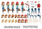 tourist woman travel creation...   Shutterstock .eps vector #703795702