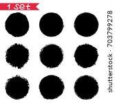 1 vector set of round black... | Shutterstock .eps vector #703799278