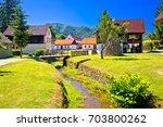kumrovec picturesque village in ... | Shutterstock . vector #703800262