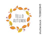 vector image of autumn theme.... | Shutterstock .eps vector #703802845