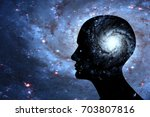 human head with brain and space ...   Shutterstock . vector #703807816
