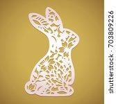 Laser Cut Easter Bunny Rabbit....
