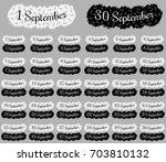 september date collection ... | Shutterstock .eps vector #703810132