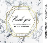 thank you design template. the... | Shutterstock .eps vector #703824016