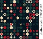 geometric pattern design  | Shutterstock .eps vector #703843102