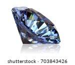 round cut light blue sapphire ... | Shutterstock . vector #703843426