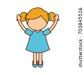 cute little girl character | Shutterstock .eps vector #703845526