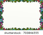 a hand drawn nature themed...   Shutterstock . vector #703846555