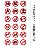 stop icons set | Shutterstock .eps vector #703854832