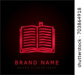 book red chromium metallic logo
