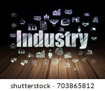 business concept  glowing text... | Shutterstock . vector #703865812