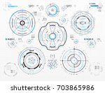 vector hud elements set for... | Shutterstock .eps vector #703865986