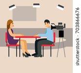 vector illustration tv... | Shutterstock .eps vector #703866676