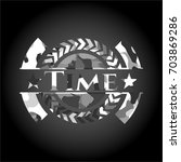 time on grey camo pattern | Shutterstock .eps vector #703869286
