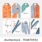 hand drawn creative tags.... | Shutterstock .eps vector #703870552