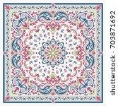 vector ornament paisley bandana ... | Shutterstock .eps vector #703871692