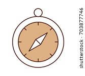 compass guide isolated icon   Shutterstock .eps vector #703877746
