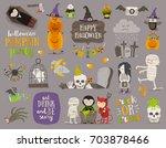 set of halloween sign  symbol ...   Shutterstock .eps vector #703878466