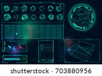 radar screen. vector... | Shutterstock .eps vector #703880956