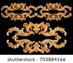 gold ornament on a black... | Shutterstock . vector #703884166