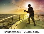 Man Fishing On The Sea From The ...