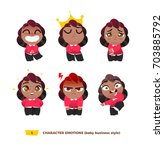 cute baby characters emotions... | Shutterstock .eps vector #703885792