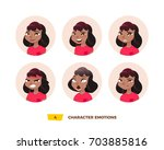 characters avatars emotion in... | Shutterstock .eps vector #703885816