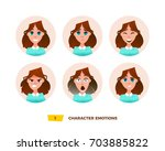 characters avatars emotion in... | Shutterstock .eps vector #703885822