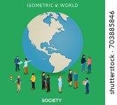 be worldwide cosmopolitan... | Shutterstock .eps vector #703885846