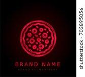 pizza red chromium metallic logo