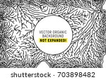 organic line pattern. branch... | Shutterstock .eps vector #703898482