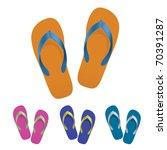 flip flop set. vector... | Shutterstock .eps vector #70391287