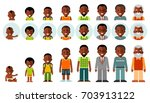 set of african american ethnic... | Shutterstock .eps vector #703913122