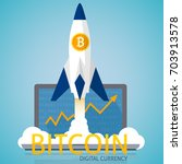 bitcoin currency growth concept ... | Shutterstock .eps vector #703913578