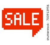 sale pixel art cartoon retro... | Shutterstock .eps vector #703913956