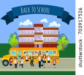 back to school set of... | Shutterstock .eps vector #703917526