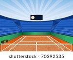 an empty tennis court | Shutterstock .eps vector #70392535