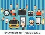 car online service modern... | Shutterstock .eps vector #703931212