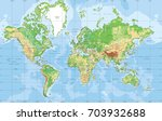 physical world map in mercator... | Shutterstock .eps vector #703932688