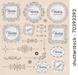 vintage ornaments set   Shutterstock .eps vector #70393393