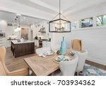 dining room and kitchen... | Shutterstock . vector #703934362