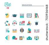 education  online books ... | Shutterstock .eps vector #703936468
