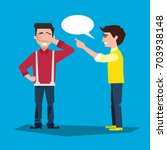 two people communicate.... | Shutterstock .eps vector #703938148