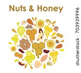 vector illustration of honey... | Shutterstock .eps vector #703939996