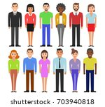 group of working people... | Shutterstock .eps vector #703940818