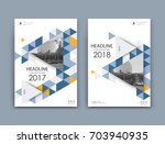 white a4 brochure cover design. ... | Shutterstock .eps vector #703940935