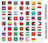 all flags of the countries of... | Shutterstock .eps vector #703940965