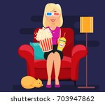 Woman At Home Sitting On...