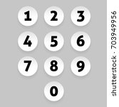 number set circle button | Shutterstock .eps vector #703949956
